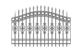 Забор кованый эскиз: экз-215