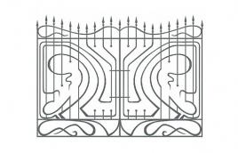 Забор кованый эскиз: экз-216