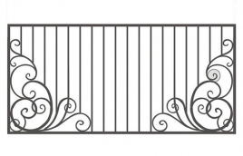 Забор кованый эскиз: экз-217