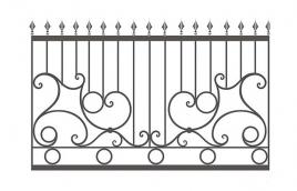 Забор кованый эскиз: экз-218