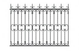Забор кованый эскиз: экз-219
