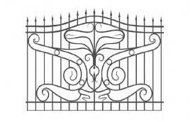 Забор кованый эскиз: экз-220
