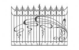 Забор кованый эскиз: экз-222