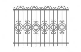 Забор кованый эскиз: экз-223