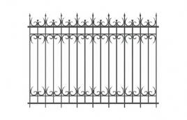 Забор кованый эскиз: экз-224