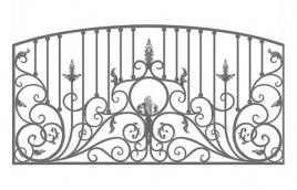 Забор кованый эскиз: экз-225