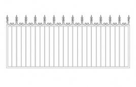 Забор сварной эскиз: эзс-501