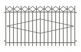 Забор сварной эскиз: эзс-502