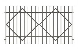 Забор сварной эскиз: эзс-503