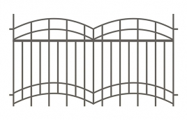 Забор сварной эскиз: эзс-504
