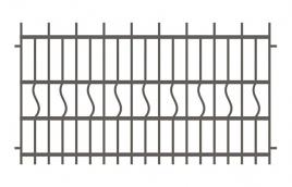 Забор сварной эскиз: эзс-505