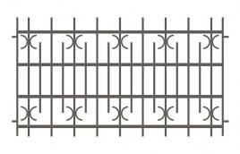 Забор сварной эскиз: эзс-506