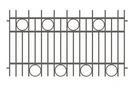 Забор сварной эскиз: эзс-507