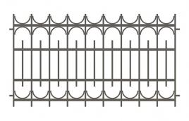 Забор сварной эскиз: эзс-509