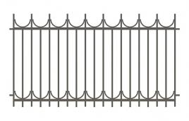 Забор сварной эскиз: эзс-511