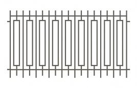 Забор сварной эскиз: эзс-512