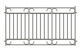 Забор сварной эскиз: эзс-514