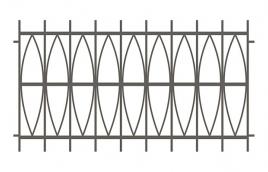 Забор сварной эскиз: эзс-516