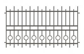 Забор сварной эскиз: эзс-517