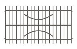 Забор сварной эскиз: эзс-519