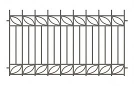 Забор сварной эскиз: эзс-520