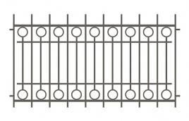 Забор сварной эскиз: эзс-521