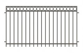 Забор сварной эскиз: эзс-522