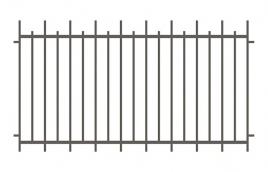 Забор сварной эскиз: эзс-524